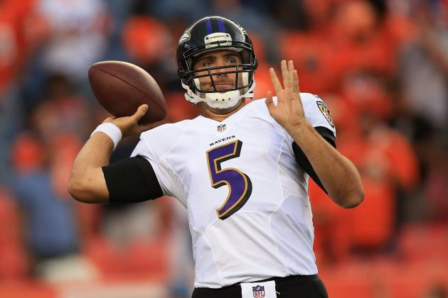 Joe Flacco Won't Live Up to Huge Contract in 2013 with Makeshift Receiving Corps