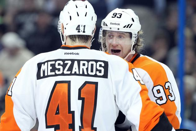 Flyers' Meszaros Still Waiting for Clearance to Play