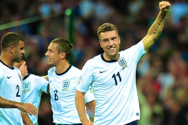 Rickie Lambert Illustrates World Cup Class as England Maul Moldova