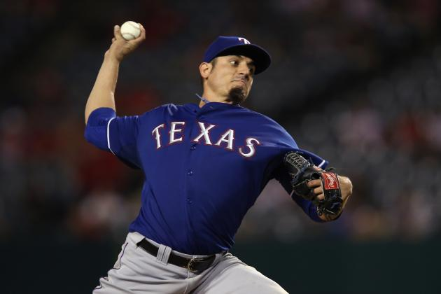 Garza Struggles as Rangers Fall in LA