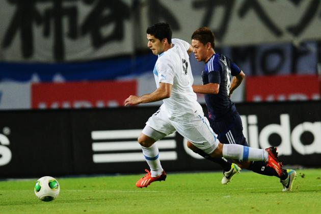 Luis Suarez Scores Twice for Uruguay Amid Red Card Controversy