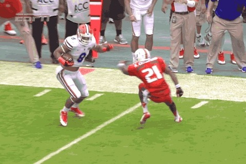 Miami DB Gets Juked Twice on the Same Play