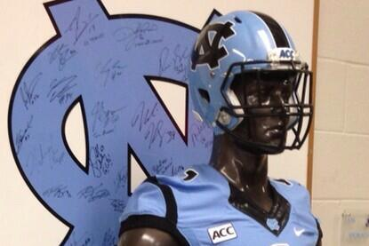 UNC Wearing All-Carolina Blue Uniforms Against Middle Tennessee