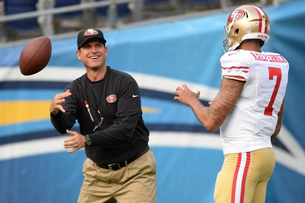 Jim Harbaugh's Read-Option Comments Highlight NFL's Difficulty Policing QB Hits