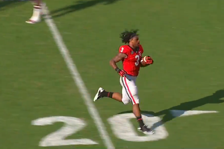 Georgia RB Todd Gurley Doesn't Need a Helmet