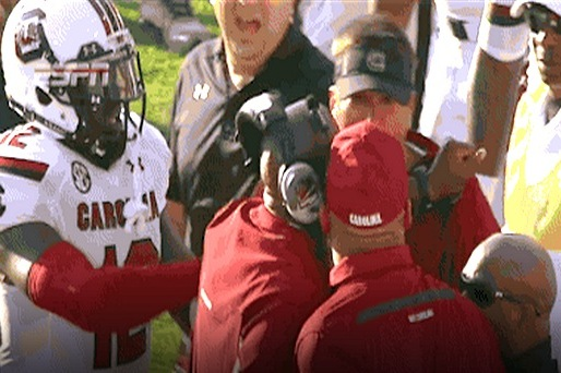 South Carolina Coaches Get into a Shoving Match on the Sideline