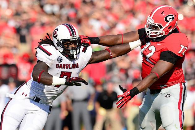 Jadeveon Clowney's Case for No. 1 Pick in 2014 NFL Draft Takes Hit After Week 2