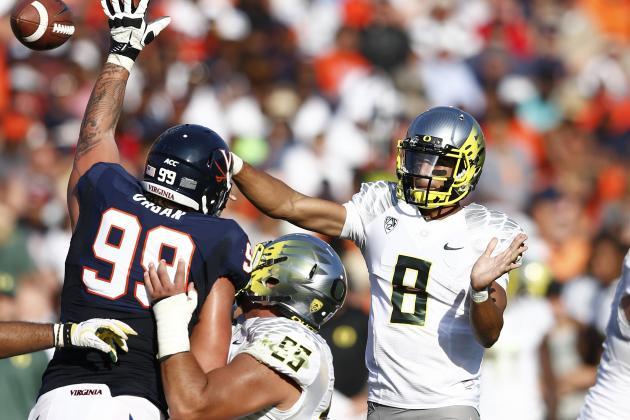 Oregon vs. Virginia: Ducks' Heisman Candidates Bid to Overcome East Coast Bias