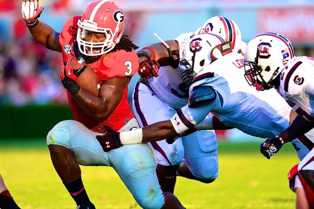 Georgia RB Todd Gurley, Man Among Boys, Plays Himself into Heisman Talk