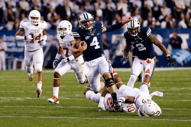 BYU Explodes for 349 Rushing Yards in 1st Half vs. Texas