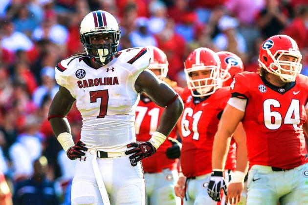Jadeveon Clowney Vents Frustration to South Carolina's Coaching Staff