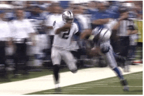 Terrelle Pryor Stiff-Arm on Laron Landry