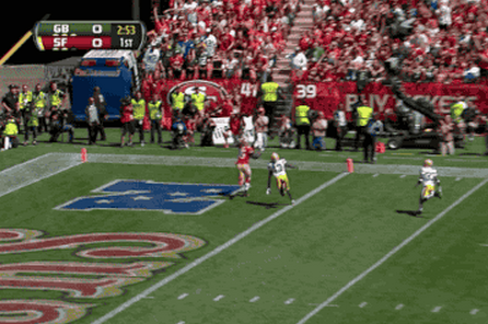 Watch Colin Kaepernick's 1st Touchdown Pass of the Season