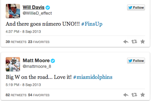 Dolphins Players React to Week 1 Win over Cleveland Browns
