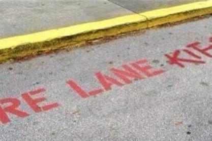 USC Fire Lane Gets Amended to 'FIRE LANE KIFFIN'