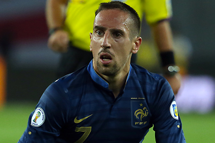 Ribery in Doubt for France-Belarus WC Qualifier