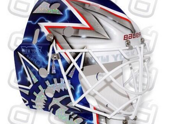 First Look: Henrik Lundqvist's Awesome New Goalie Mask