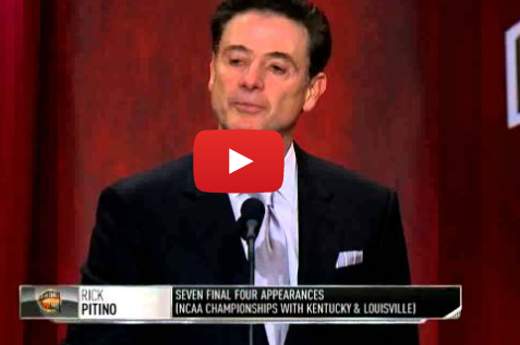 Watch: Rick Pitino's Hall of Fame Induction Speech
