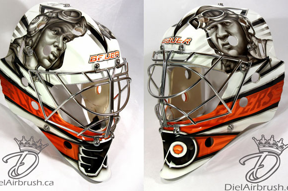 Ray Emery's New Flyers Mask Honors Tuskegee Airmen