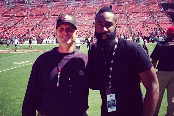 NBA Stars Show Off NFL Pride on the Sidelines During Week 1 of 2013-14 Season