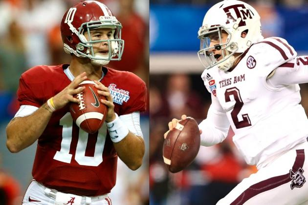 Alabama vs. Texas A&M: Breaking Down AJ McCarron and Johnny Manziel