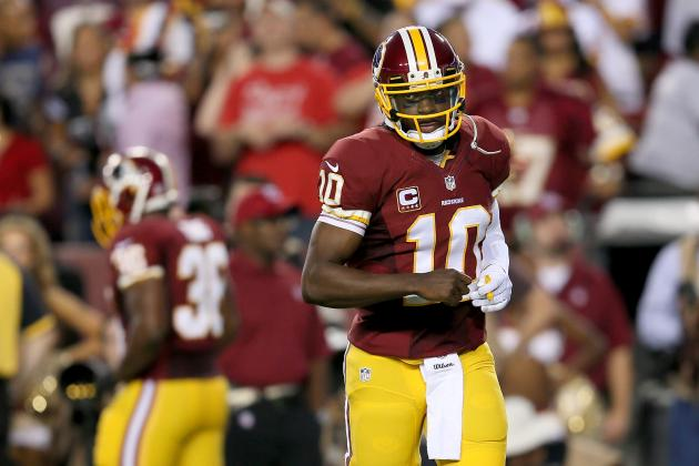 Twitter Reacts to Robert Griffin III's Return from Knee Surgery vs. Eagles