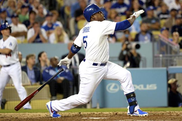 Dodgers' Juan Uribe Shocks Diamondbacks with 3 Consecutive Home Runs
