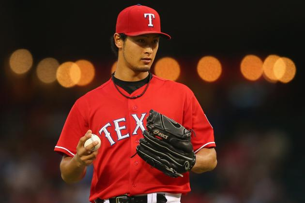 Darvish Exits vs. PIT with Right Leg Cramp