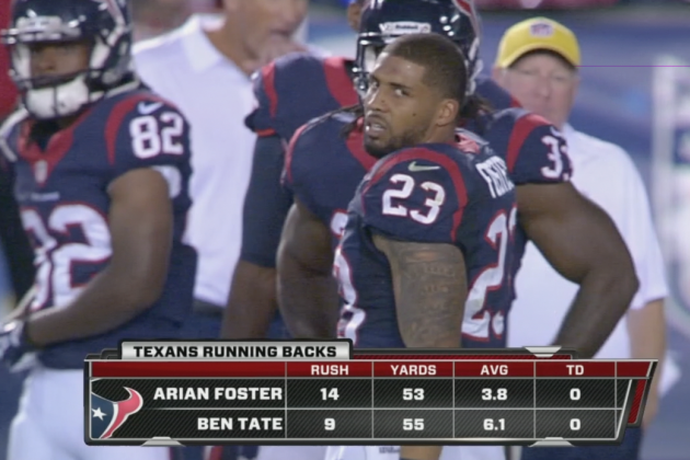 Houston Texans RB Arian Foster Was Not Happy About Being Subbed Out
