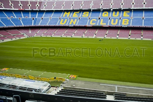 Camp Nou Turf Successfully Re-Laid