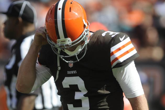 Assigning Blame to All of Browns QB Brandon Weeden's Interceptions in Week 1