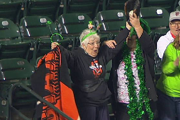 Grandma at Giants Game Makes Foul Ball Catch of the Year