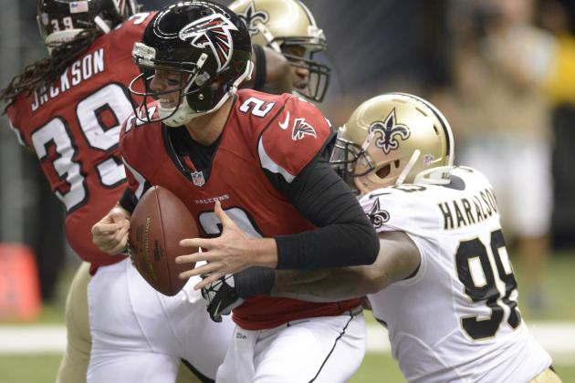 Breaking Down the Atlanta Falcons Protection Problems Against the Saints
