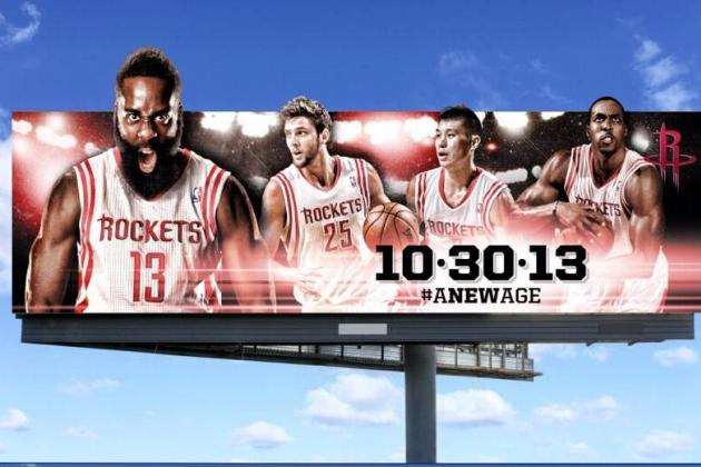 Houston Rockets Unveil 'A New Age' Billboards with Dwight Howard, James Harden