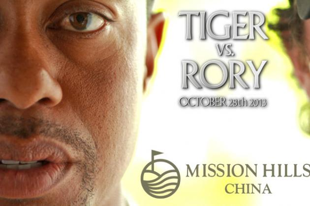 Tiger Woods vs. Rory McIlroy: 'The Match at Mission Hills' in China Announced