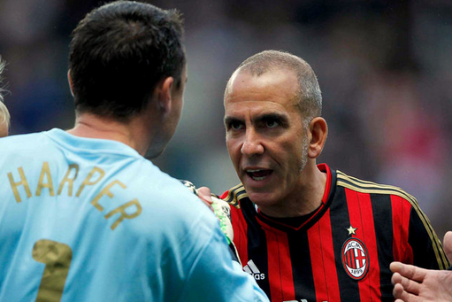 Sunderland Boss Paolo Di Canio Scores in Steve Harpers Newcastle Testimonial