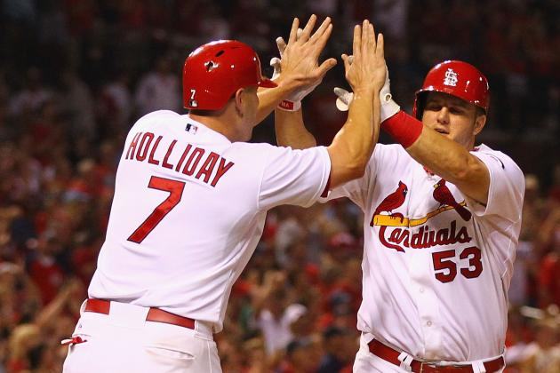 Late Fireworks as Cards Top Brewers 5-1 : Sports