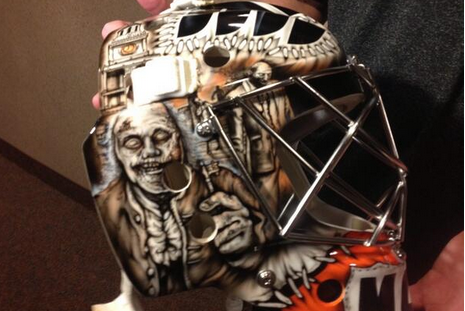 PHOTOS: Steve Mason's Zombie Mask Is Finished and It's Spectacular