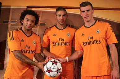 Real Madrid's Orange Champions League Kit Launch