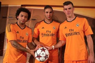 Real Madrid's Orange Champions League Kit Launch
