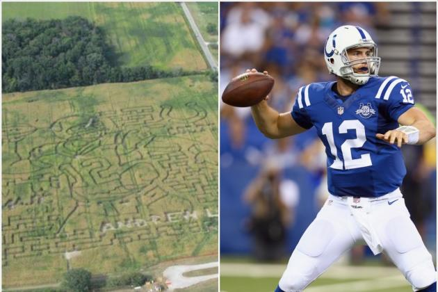 Andrew Luck Corn Maze Pops Up in Indiana