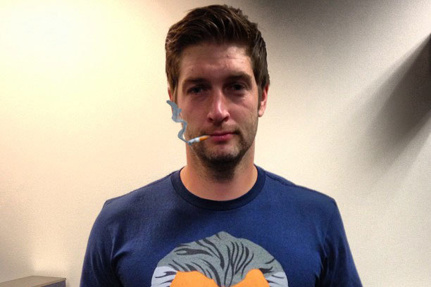 Smokin' Jay Cutler Loves His New Mike Ditka Shirt