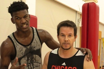 Jimmy Butler Balls with Mark Wahlberg, Makes Him Look Like a Scrub