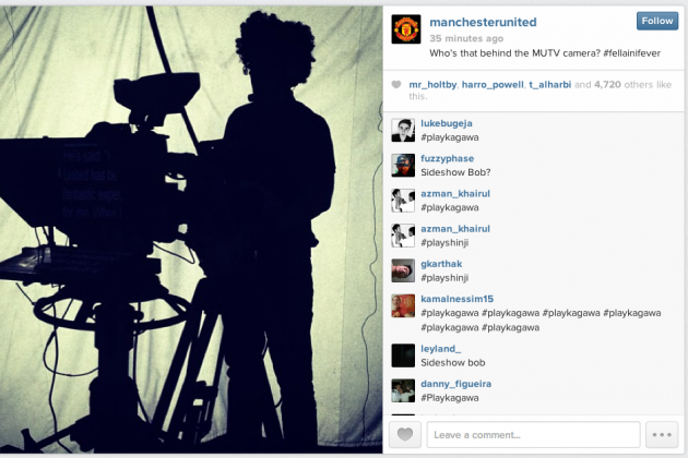 Fans flood Man Utd's Fellaini Instagram post with #PlayKagawa.