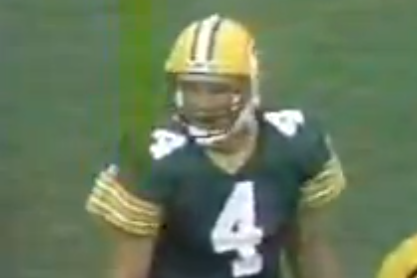 Remember When: Brett Favre Completes 1st NFL Pass -- to Himself