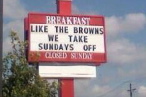 Chick-Fil-a Restaurant Makes Joke About Cleveland Browns (Photo)