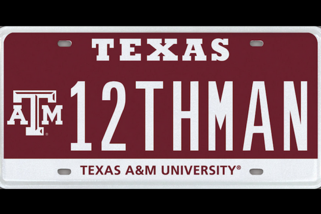A&M License Plate Sells for $115K