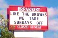 Ohio Chick-fil-A Restaurant Mocks the Cleveland Browns with 'Sundays Off' Sign