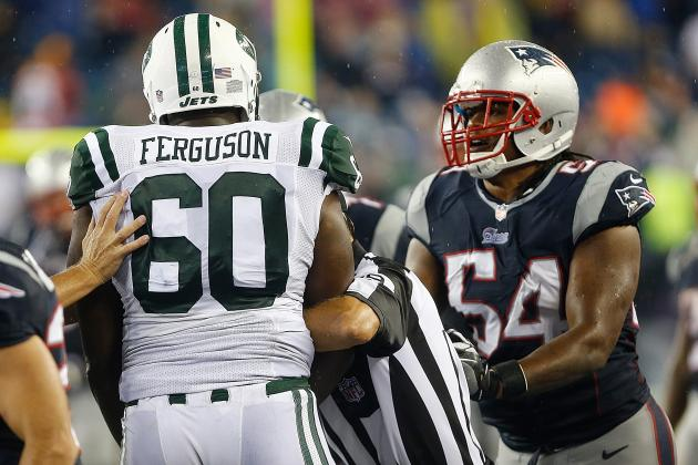 NFL Must Suspend Willie Colon, D'Brickashaw Ferguson for Pats-Jets Brawl