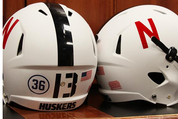 Photo: Nebraska Honors Nick Pasquale with Helmet Decal